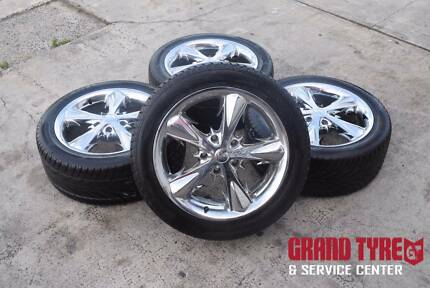 "17"" Chorme Alloy wheels and Tyres 5x120 suitable for Most Holden"