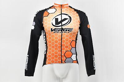 Verge Men/'s Medium Elite Race Short Sleeve Cycling Jersey Black//Carbon//Orange
