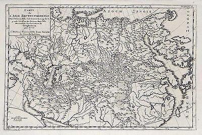 Antique map, Carte de l'Asie Septentrionale …