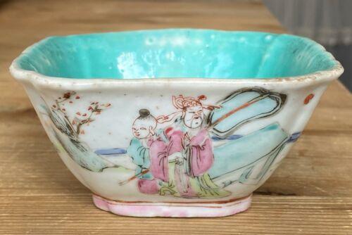 Antique 19th C Chinese Porcelain bowl Tongzhi Period
