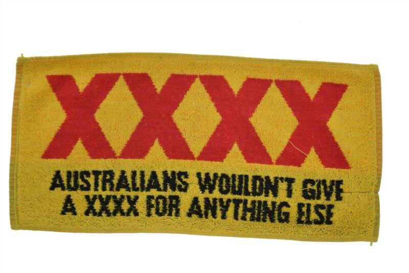 """Vintage Bar Towel Australia XXXX Aussie Beer (8"""" x 17.5"""")"""