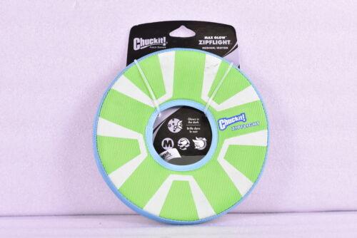 Chuckit! ZipFlight Max Glow Frisbee Dog Toy Bright Playtime