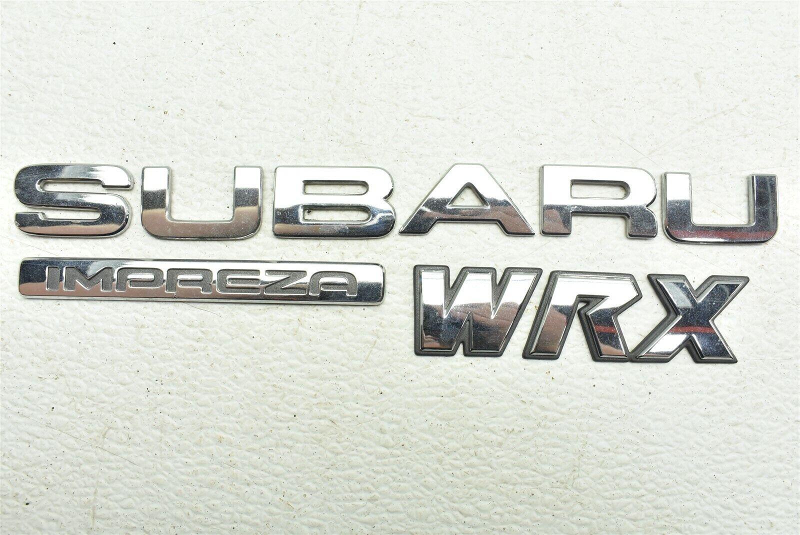 2002-2007 Subaru Impreza WRX Badge Emblem Decal 02-07 | eBay