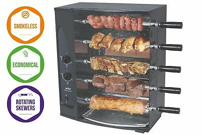 5 Skewer Rotisserie Gas Barbecue   Grill By Arke