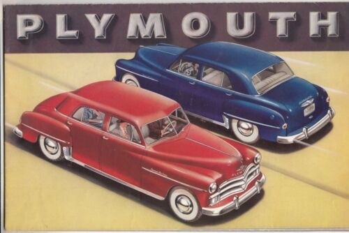 [61060] 1950 PLYMOUTH NEW MODELS DEALER BROCHURE