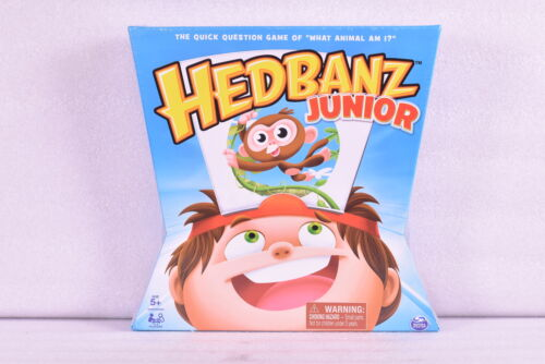 """Hedbanz Junior """"What Animal Am I?"""" Family Board Game for Kids age 5 & up"""