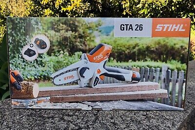 STIHL GTA 26 Handheld Pruner Chainsaw Battery Powered w/carry case! 2x Chains!