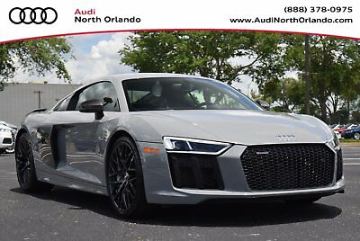 2018 Audi R8 V10 Plus Coupe Audi R8 V10 Plus Exclusive Nardo Grey Black Optics B&O Full Leather Pkg We Trade