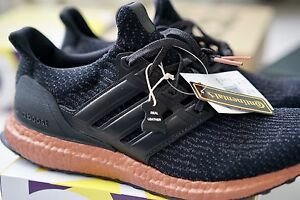 Adidas Ultra Boost 3.0 Black Tech Rust genuine leather cage