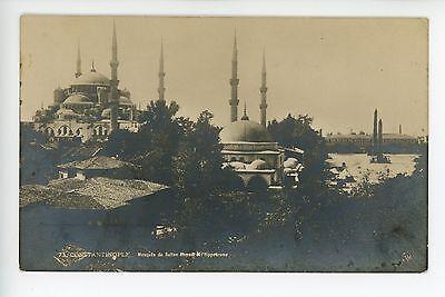 (Constantinople RPPC Sultan Ahmed Mosque & Hippodrome TURKEY Antique Photo JLC)