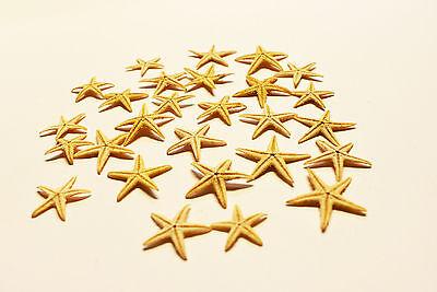 12 Tiny Mini Starfish Tan Flat Natural (13-25mm) 1/2 - 1