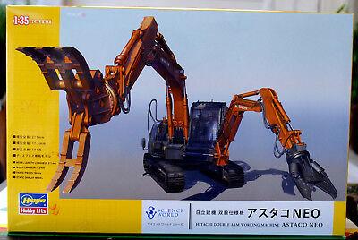 Hitachi Astaco Neo Doppel Arm Abriss Maschine 1:35 Hasegawa 54004