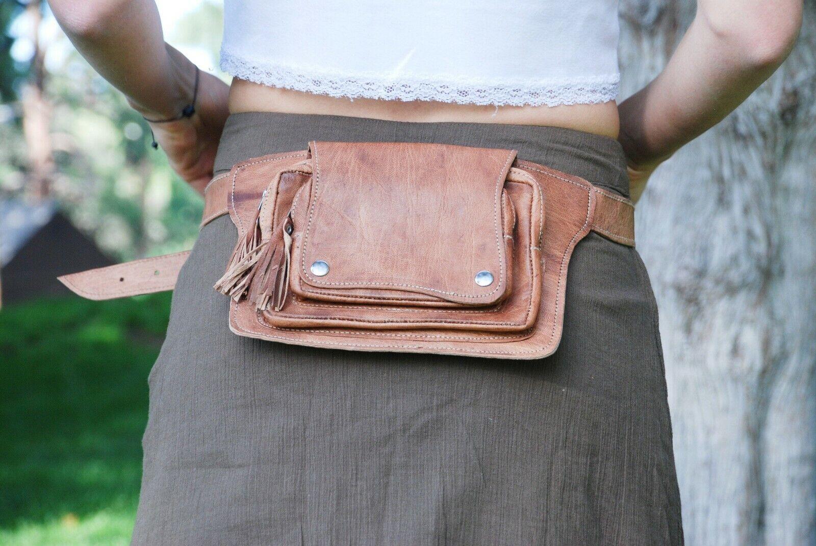 Leather Belt Bag, Festival Waist Pack, Fanny Pack for Women,