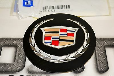Cadillac CTS DTS Front Grille Wreath and Crest Chrome Emblem new OEM 25737138