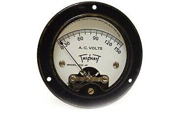 Vintage Triplett Ac Volt Meter 0-150 Panel Mount 332-jp Round Steampunk