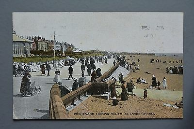 R&L Postcard: St Annes-on-Sea Promenade Looking South, Beehive Series 1920s