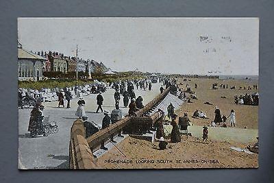 R&L Postcard: St Annes-on-Sea Promenade Looking South, Beehive Series 1920s