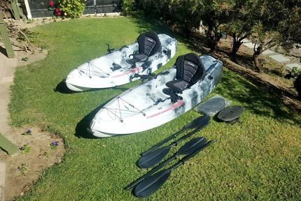 Kayaks x 2 Fishing Camo Black/White