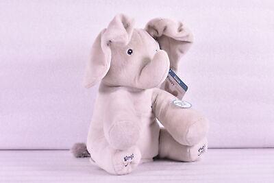 "Baby Gund 12"" Animated Flappy the Elephant Stuffed Animal Plush, Grey"