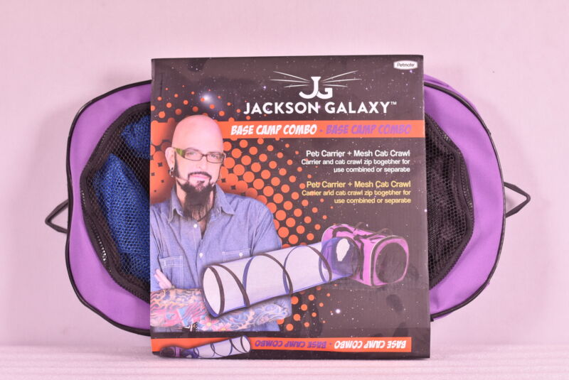 Petmate Jackson Galaxy Base Camp Combo Pet Carrier + Mesh Cat Crawl