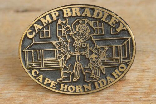 Camp Bradley Brass Belt Buckle Cape Horn Idaho
