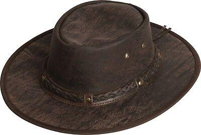 Scippis Westernhut Cowboyhut Rugged Earth SPRINGBROOK Lederhut Hut Brown Braun