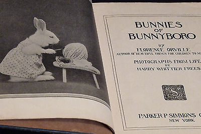 Bunnies Of Bunnyboro  1916  Photographs From Life  By Harry Whittier Frees