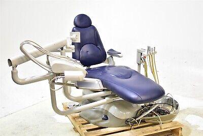 Pelton Crane Sp30 Dental Exam Chair Operatory Set-up Package Blue Ultraleather