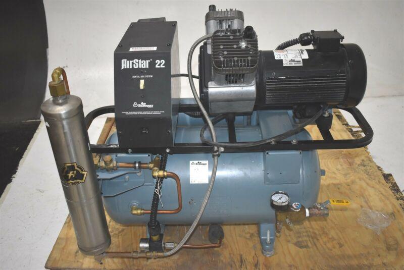Air Techniques AirStar 22 Dental Air Compressor w/ 1 Year Warranty - REFURBISHED