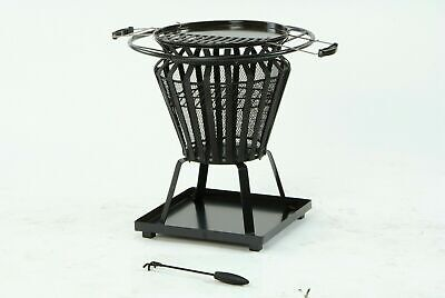LIFESTYLE SIGNA STEEL BASKET WITH FIREPIT BBQ LOG NEW IN BOX LFS703 PIT FIRE