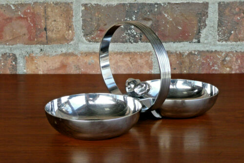 Chase Chrome Art Deco Tidbit Tray with Handle, Fish Finial ~ Mid Century Ashtray