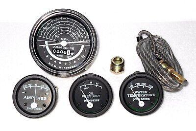 John Deere Tractor Gauge Set Kit-tachometertempoilamp For 5060 Of Black Face
