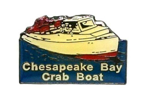 Chesapeake Bay Crab Boat Hat Tac or Lapel Pin