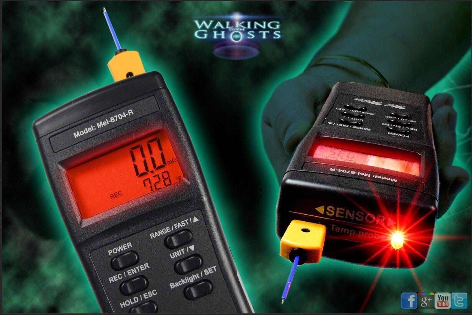 Mel Meter Mel-8704R Classic EMF Temperature & Light Paranormal Ghost Hunt UK