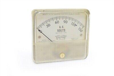 Vintage Triplet Ac Volt Meter 327-u Nos Steampunk Panel Meter