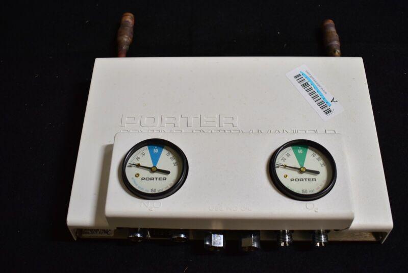 Porter 3222MX Dental N2O Nitrous Manifold Unit for Flowmeter Conscious Sedation