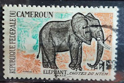 Cameroun 1962, SG362 1f Elephant USED