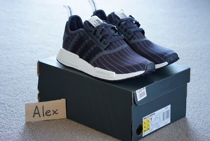 US 8.5 Adidas NMD R1 Bedwin Black Night Grey