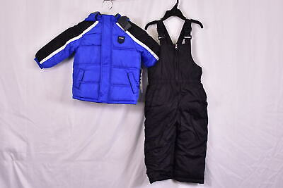 Boy's Ixtreme 2 Piece Set: Insulated Snow Jacket & Snow Bib Pants, Royal Blue 2 Piece Jacket Pants