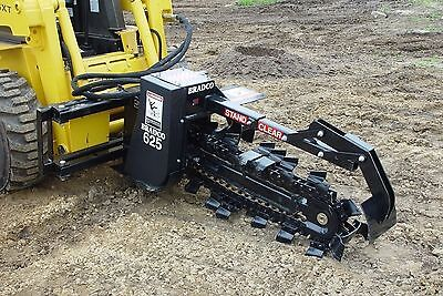 Bradco625 Trencher Attachment For Skid Steers Digs 36 Deep6 Wide2 Position