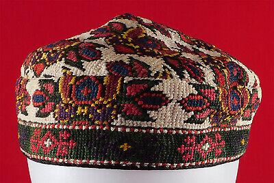Tubiteika Uzbek Traditional Embroidery  Ethnic Vintage Hat Bohemian skullcap Tubeteika kufi kippah Boho hat Duppi Boho clothing