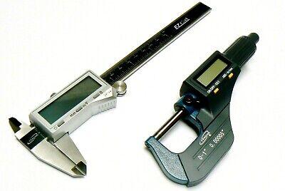 Igaging Digital Electronic Micrometer Caliper Set Machinist Measuring Tool Kit
