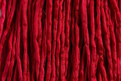 Seidenband, Seidenschnur, 2 mm, rubinrot, 1 Meter; *3167