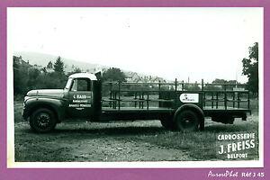 photo vintage pub vieux camion citro n carrosserie freiss belfort j45. Black Bedroom Furniture Sets. Home Design Ideas