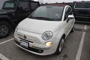2015 FIAT 500c Lounge LEATHER, CONVERTIBLE !!!