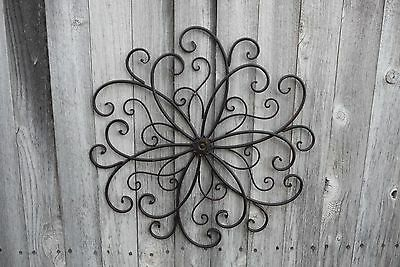 Metal SCROLL Swirl Flower Design Wall Art ...