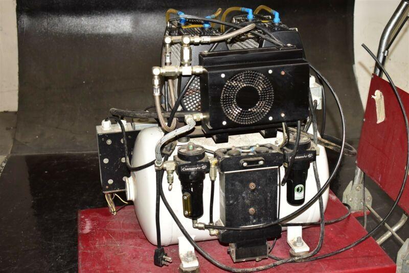 CustomAir Jun-Air 2xOF302-40BD2 2006 Dental Air Compressor Unit 73 Decibels