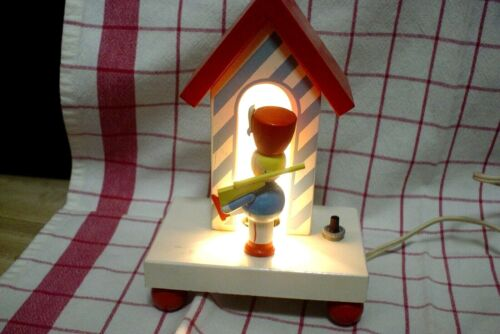 Vintage Sentry Night Light Wooden IRMI / Nursery Plastics Co.