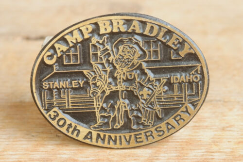 Camp Bradley Brass Belt Buckle - 30th Anniversary Idaho