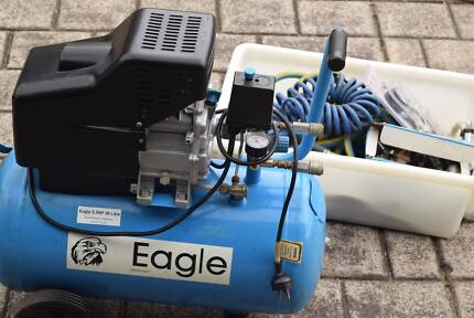 eagle 2.5 HP 36L Air Compressor 2004 with lots of extras